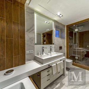 стільниця із штучного каменю у ванну