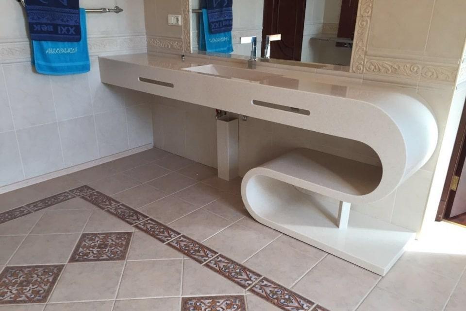 акрилова стільниця для ванної