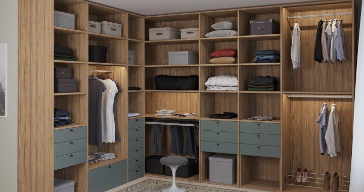 Практична гардеробна кімната