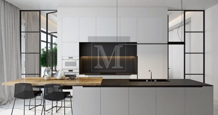 Кухні чорно-білого кольору