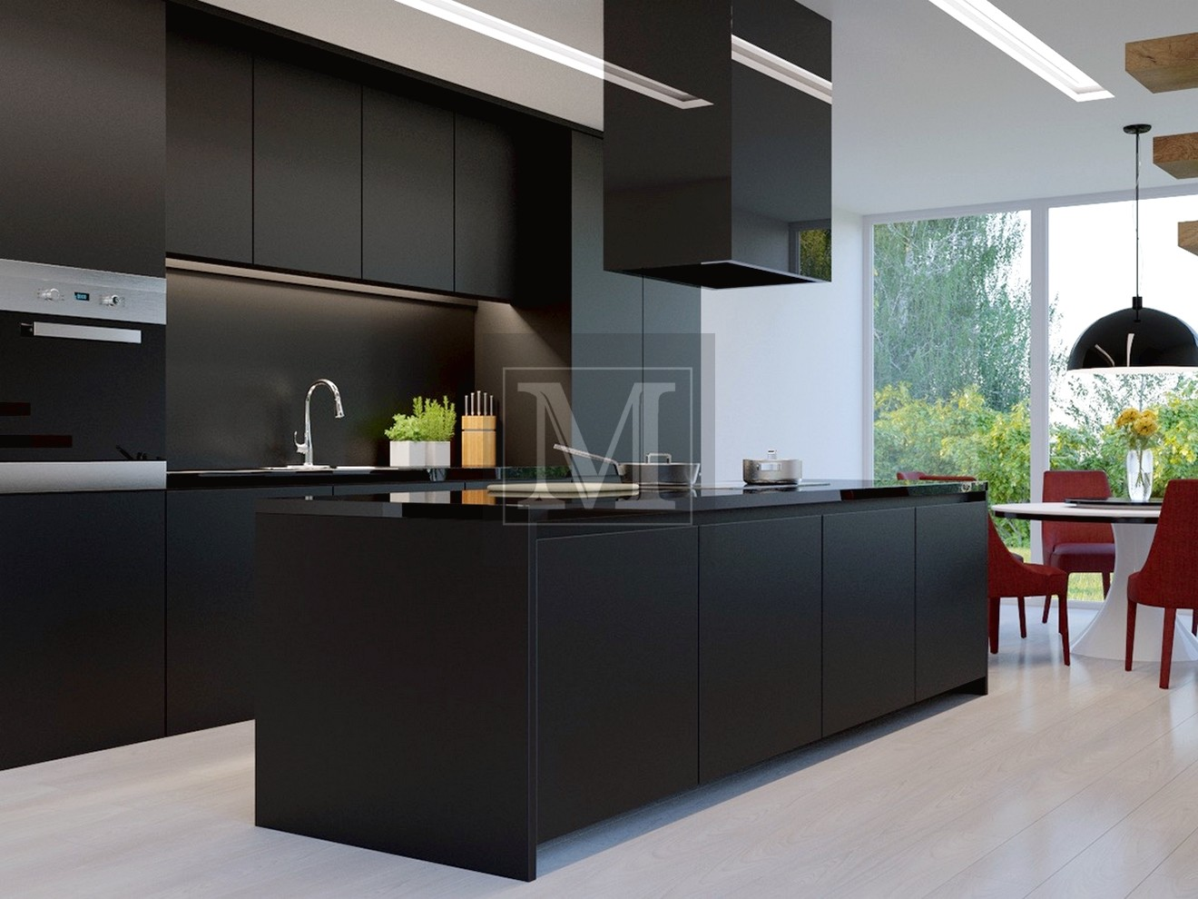 Чорні кухні в інтер'єрі