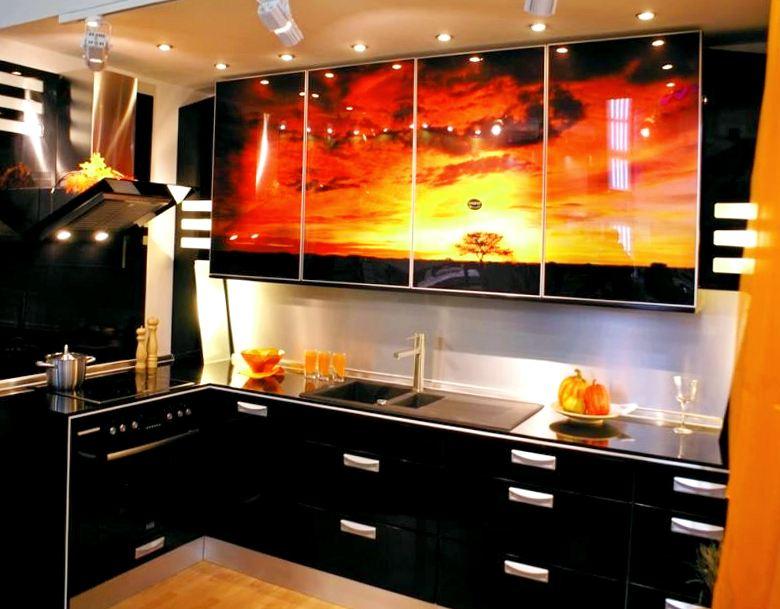 Кухня з акрилу + фотодрук