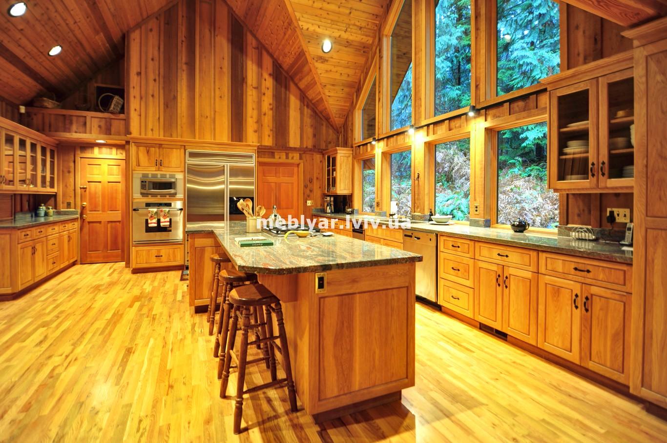 догляд за кухнею з масиву дерева